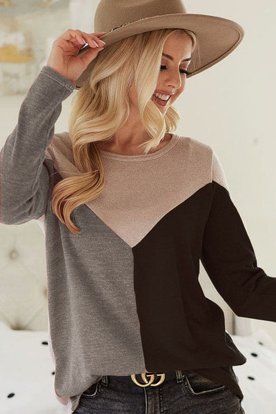 Gabrielle Knit Colorblock Top