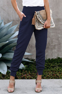 Alina Pocketed Jogger Pants - Navy - SIZE XL