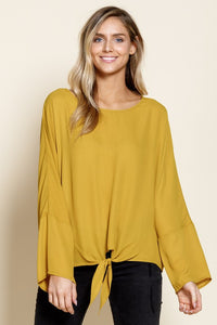 Avalon Boat Neck Tie Blouse - 2 Color Options