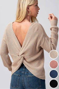 Bria Twist Back Sweater