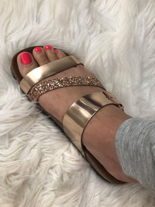 Dollie Strap Rose Gold Sandals