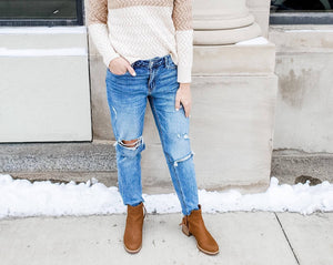 Kylie Distressed Boyfriend Jeans