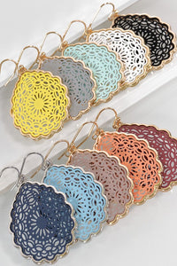 Gracie Mandala Teardrop Earrings - 5 Color Options
