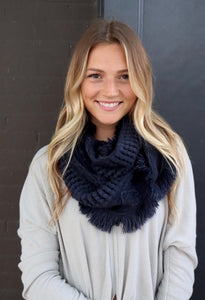 Igna Infinity Fringe Scarf - 2 Color Options