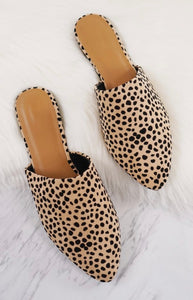 Print Perfect Leopard Mules - SIZE 6