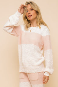 Rachelle So Soft Colorblock Sweater