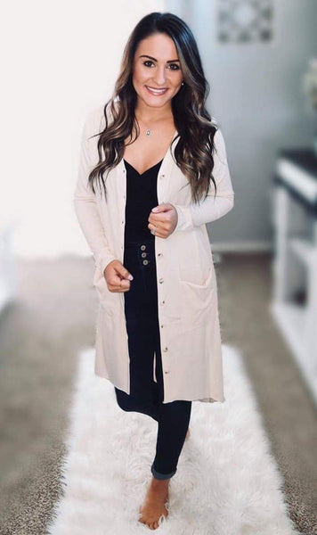 Rae Button Down Cardigan Duster - 7 Color Options