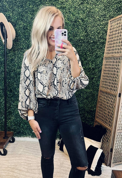 Tenly Taupe Top