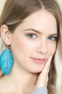 Yoryn Leather Fringe Earrings