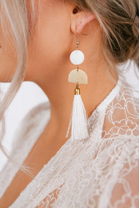 Sia Tassel Charm Earrings