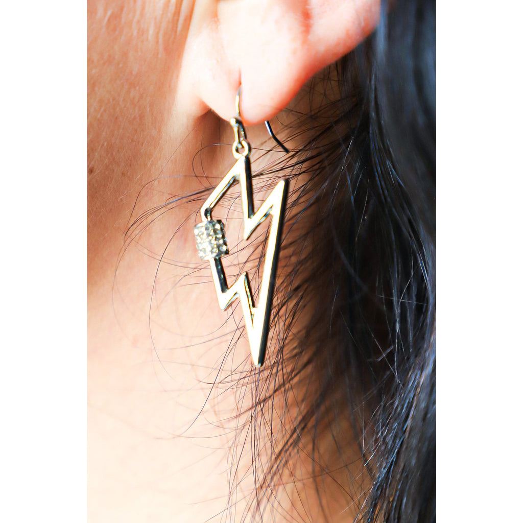 Lightning Bolt Silver Earrings