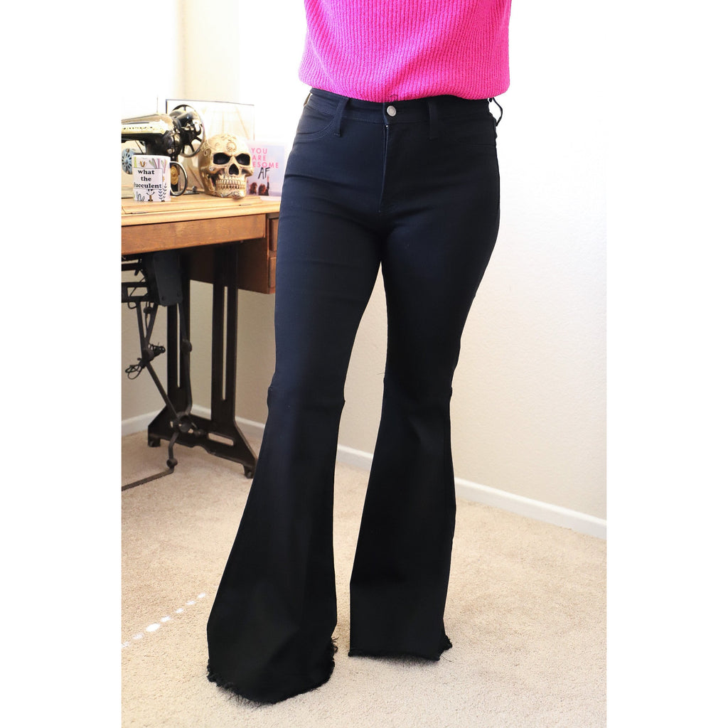 Black Bellbottom Jeans