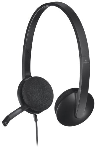 Logitech H340 Wired USB Headset, Black (981-000507)