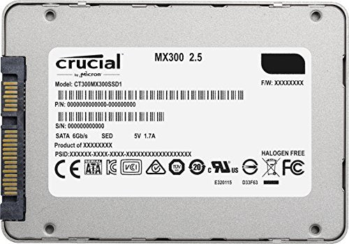 Crucial MX300 2TB SATA 2.5 Inch Internal Solid State Drive - CT2050MX300SSD1