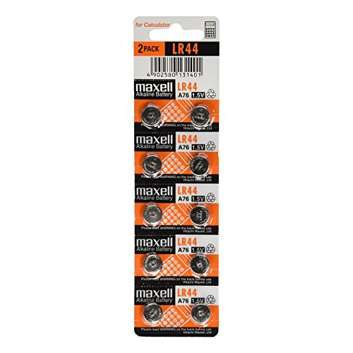 Maxell LR44 1.5V Alkaline Battery 10 Batteries