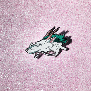 White Haku Pin