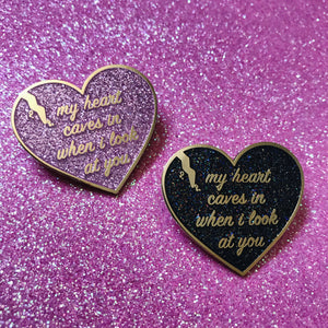 My Heart Caves Pin