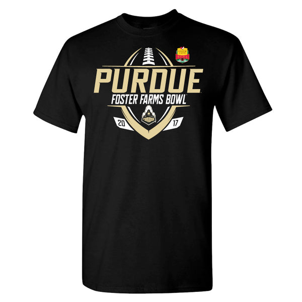 2017 Foster Farms Bowl Purdue Men's Cotton Short Sleeve Tee