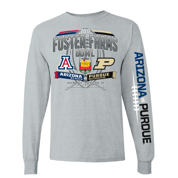2017 Foster Farms Bowl Team-vs-Team Men's Cotton Long Sleeve Tee