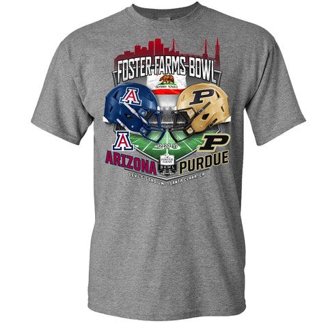 2017 Foster Farms Bowl Team-vs-Team Men's Cotton Short Sleeve Tee