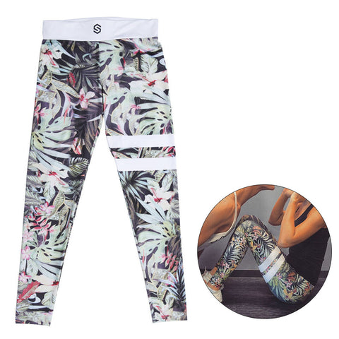 EMERALD FLORAL | Women's High-Sport Leggings