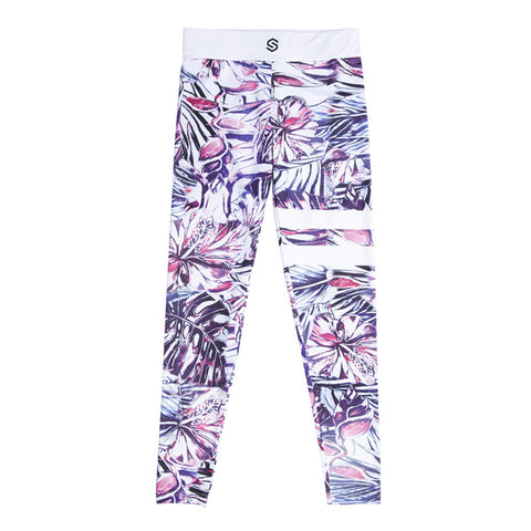 PURPLE FLORAL | Women's High-Sport Leggings