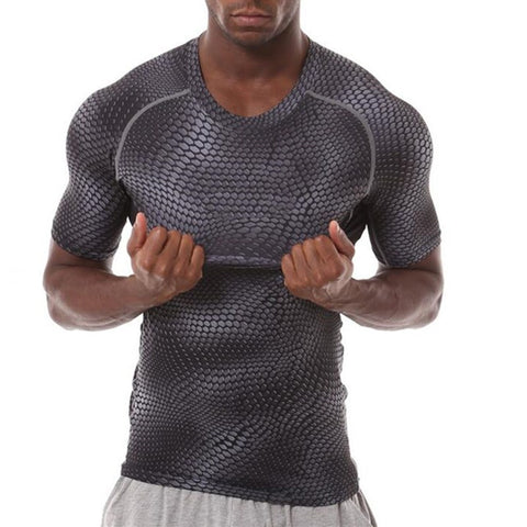Men's PYTHON Ultra Flexible Short Sleeve Compression Shirt