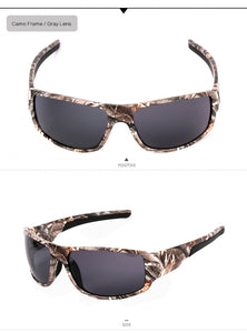 Men's Camo Frame Polarized Sun Glasses, Camouflage Polarized Sunglasses with UV400 Protection, for Hunting and more