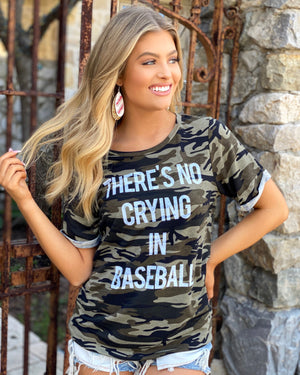 There's No Crying In Baseball Camo Tee