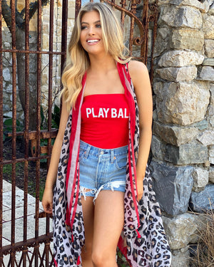PLAYBALL Ribbed Tube Top Body Suit