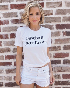 Baseball Por Favor Basic Tee - Live Love Gameday®
