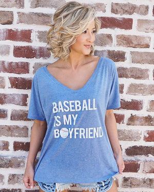 Baseball Is My Boyfriend Slouchy Tee