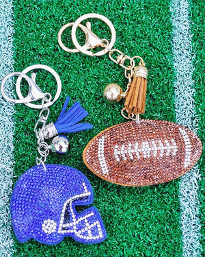 Sparkle Game Day Key Chain