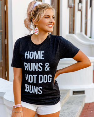 Home Runs & Hot Dog Buns Basic Unisex Tee