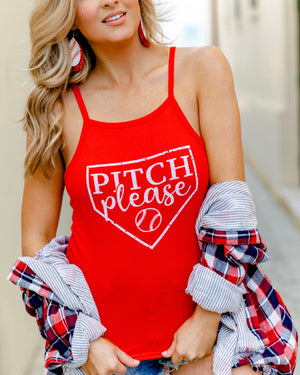 Pitch Please Red High-Neck Tank
