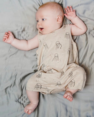 Jellyfish Sleeveless Shortie Romper