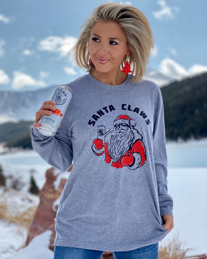 Santa Claws Unisex Long-Sleeve Tee