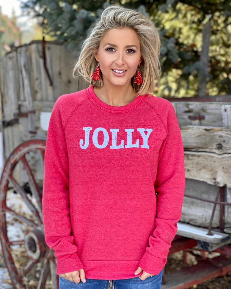 Jolly Sparkling Glitter Fleece Sweatshirt