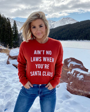 Ain't No Laws When You're Santa Claus Cropped Street Fleece