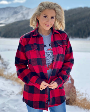 Red Buffalo Yarn-Dyed Long Sleeve Flannel