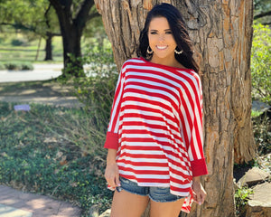 Oversized Stripe Knit Top