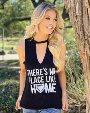 There's No Place Like Home Cut-Out Neckline Tank (Ships in 5-10 Business Days)