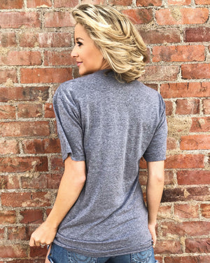 Game Day Made Me Do It™ – Unisex Gray Tee