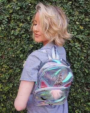 Clear Unicorn Mini Backpack - Live Love Gameday®