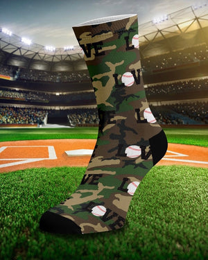 "LOVE ""Baseball"" Camo Unisex Socks"