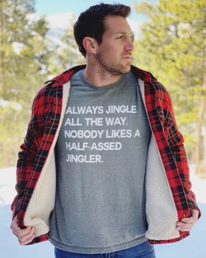 Always Jingle All The Way Acid-Wash Olive Unisex Tee - Live Love Gameday®