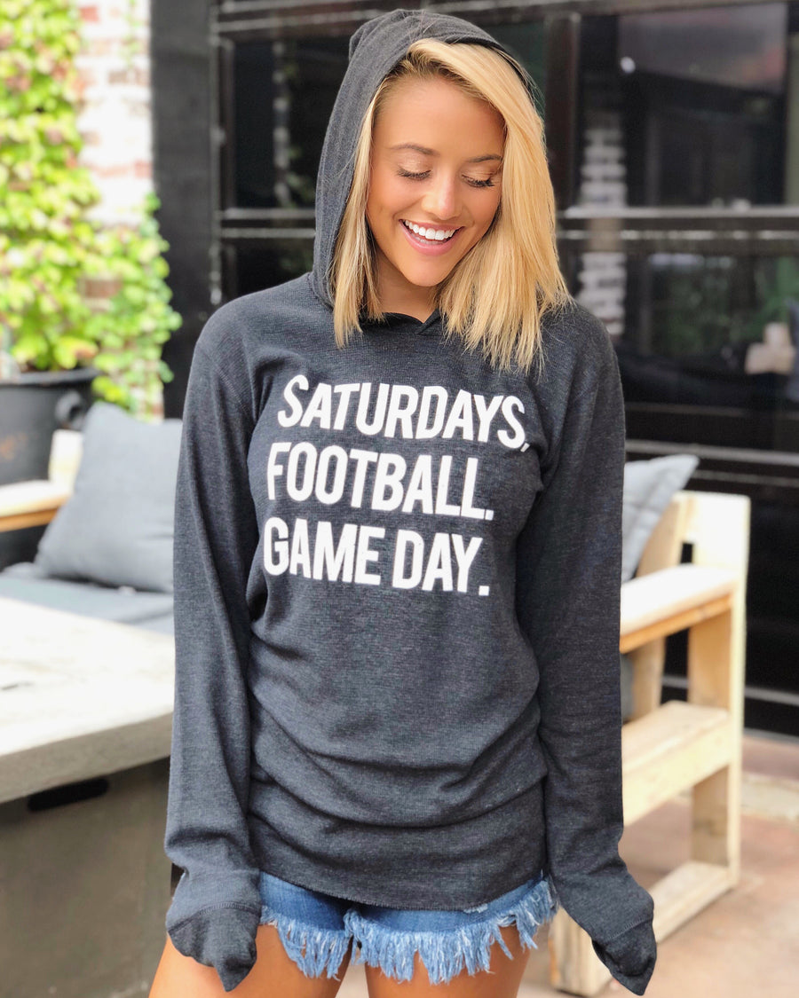 Football – Saturdays. Football. Game Day. – Lightweight Thermal Hoodie
