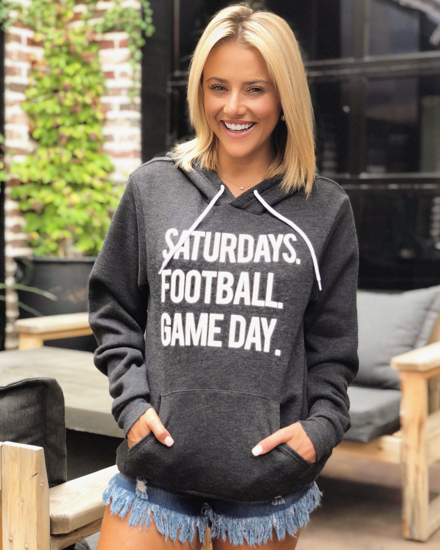 Football – Saturdays. Football. Game Day. – Ultra-Plush Unisex Hoodie – Charcoal