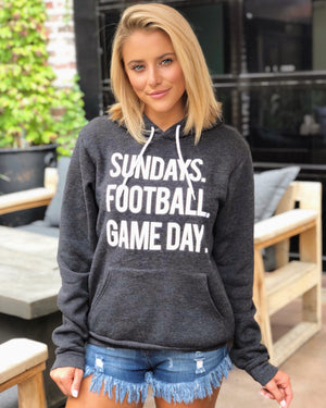 Football – Sundays. Football. Game Day. – Ultra-Plush Unisex Hoodie – Charcoal