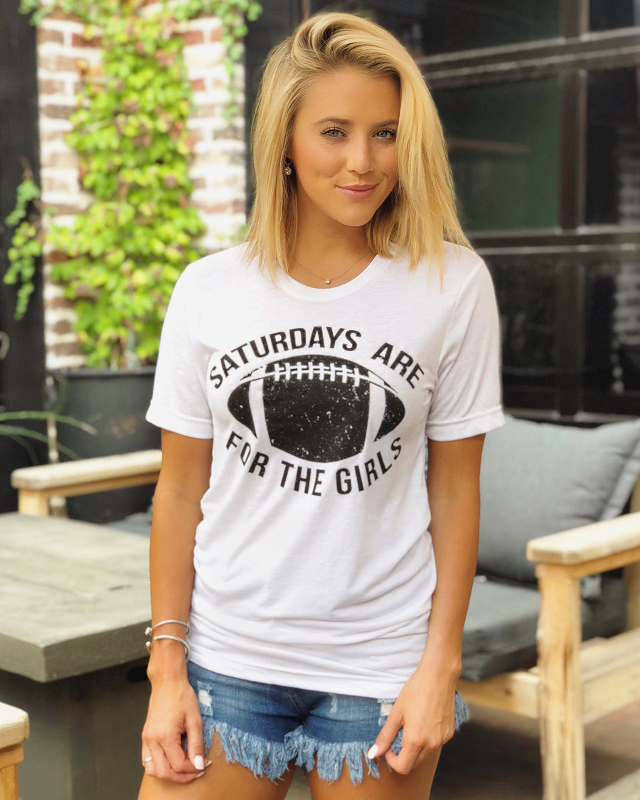 Football – Saturdays Are For The Girls – Basic Tee